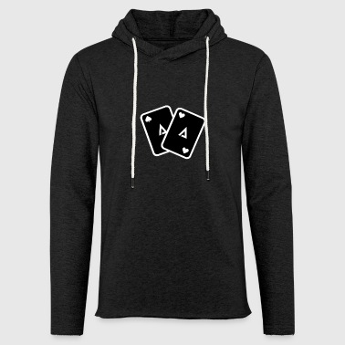 Ace Of Spades Poker cards - Light Unisex Sweatshirt Hoodie
