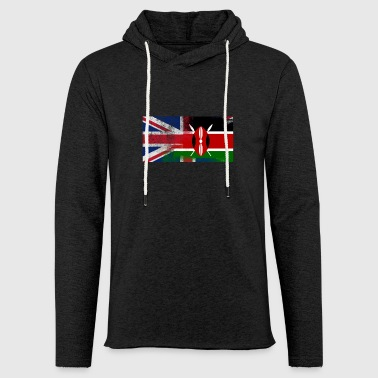 British Kenyan Half Kenya Half UK Flag - Light Unisex Sweatshirt Hoodie
