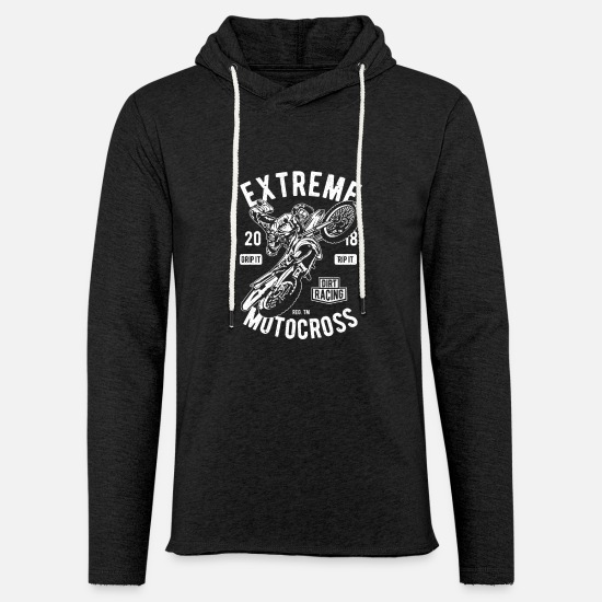 Birthday Hoodies & Sweatshirts - Extreme motocross - Unisex Sweatshirt Hoodie charcoal grey