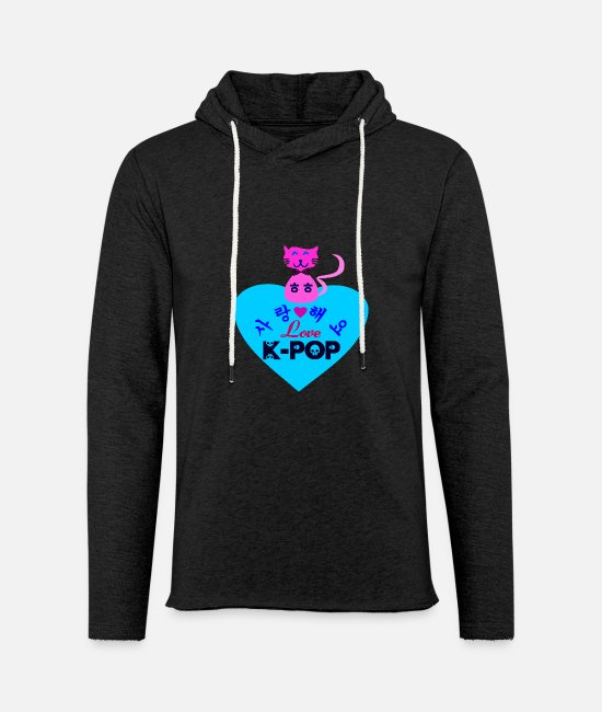 I Love K Pop Fabulous K Pop Vector Design For Must Have Cool K Pop Stylish Clothing Hoodies & Sweatshirts - ♥♫I Love Kpop-Saranghaeyo KPop-Kpopholic♪♥ - Unisex Sweatshirt Hoodie charcoal grey