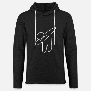 Homeless Dab Who (White) - Original Collection - Light Unisex Sweatshirt Hoodie