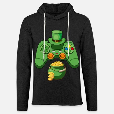 Gamers Patricks Day Gifts Gaming Controller Leprec - Unisex sweatshirt hoodie