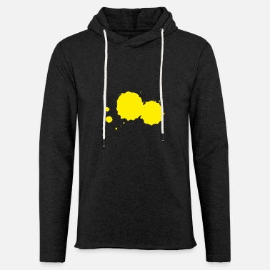 Paint Blob of paint splatter painter gift yellow - Unisex Sweatshirt Hoodie
