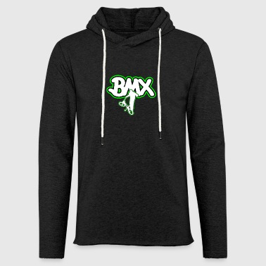 BMX bicycle logo gift - Light Unisex Sweatshirt Hoodie