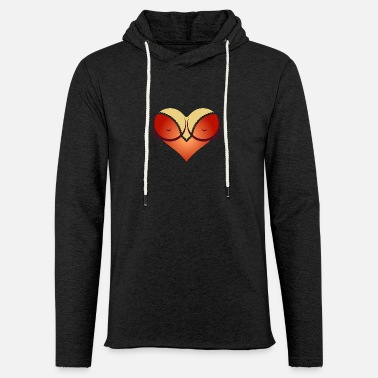 Cleavage Heart-shaped Woman's Breasts With Deep Cleavage - Light Unisex Sweatshirt Hoodie