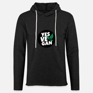Yes Vegan / Yes ve gan (3c) - Sweat à capuche léger unisexe
