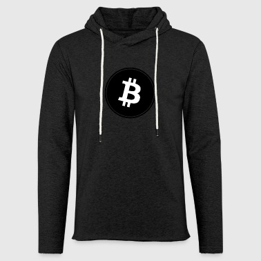 Bitcoin in Black color. - Light Unisex Sweatshirt Hoodie