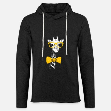 Giraffe Giraffe with glasses and bow tie - Africa - Zoo - Unisex Sweatshirt Hoodie