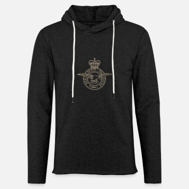 Royal Air Force Insignia de la Royal Air Force - Sudadera con capucha ligera unisex