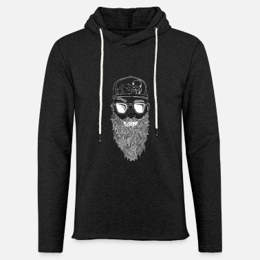 Beard Brill (in white) - Unisex Sweatshirt Hoodie