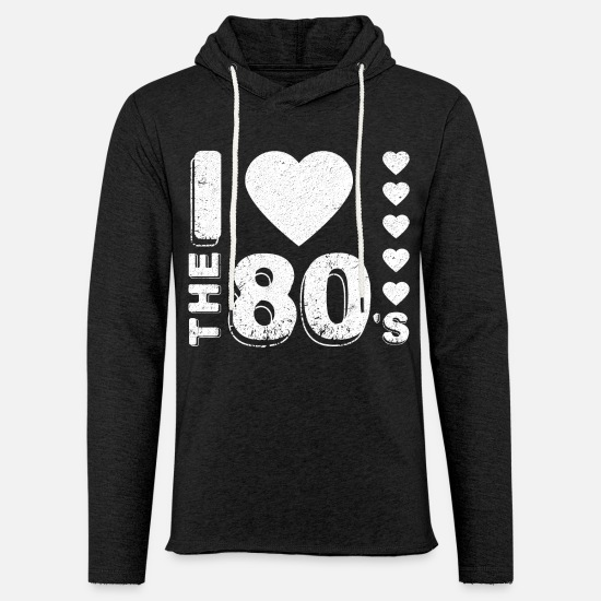 80s Hoodies & Sweatshirts - I love the 80's Party Gifts for family and friends - Unisex Sweatshirt Hoodie charcoal grey