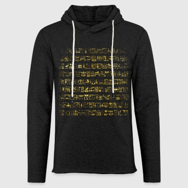 Egypt Golden Egyptian hieroglyphs pattern - Light Unisex Sweatshirt Hoodie