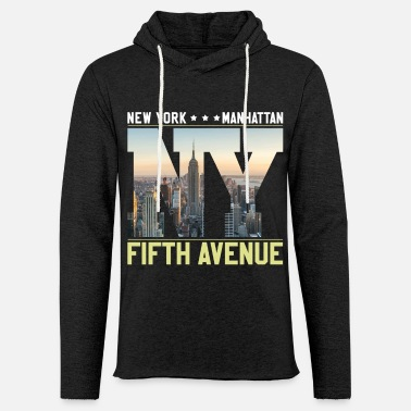 Avenue NY YORK Skyline Fifth Avenue - Lett unisex hette-sweatshirt