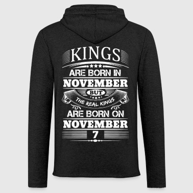 Real Kings Are Born On November 7 - Light Unisex Sweatshirt Hoodie