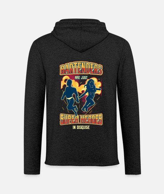 Superhero Hoodies & Sweatshirts - Bartender Superhero T-Shirt Alcohol Party Drinks - Unisex Sweatshirt Hoodie charcoal grey