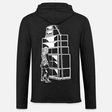 Sound System Tekno 23 Sound System Girl - Light Unisex Sweatshirt Hoodie