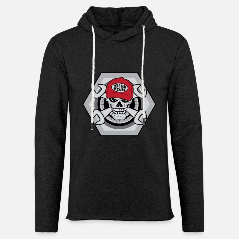 Mechanic Hoodies & Sweatshirts - Mechanic Skull - Unisex Sweatshirt Hoodie charcoal grey