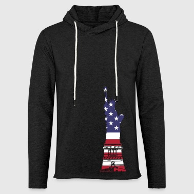 AMERICA FLAG ON LIBRETY STATUE - Sweat-shirt à capuche léger unisexe