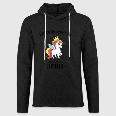 Unicorn April dronninger - Lett unisex hette-sweatshirt