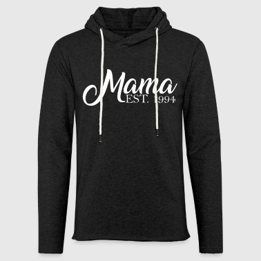 Mama established 1994 - Leichtes Kapuzensweatshirt Unisex