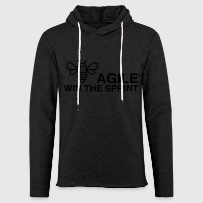BE AGILE WIN THE SPRINT - Light Unisex Sweatshirt Hoodie