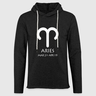 Aries Zodiac Sign - Light Unisex Sweatshirt Hoodie