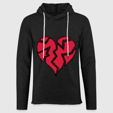 Warp Heart Broken - Light Unisex Sweatshirt Hoodie