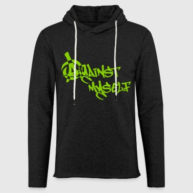 against myself - Leichtes Kapuzensweatshirt Unisex