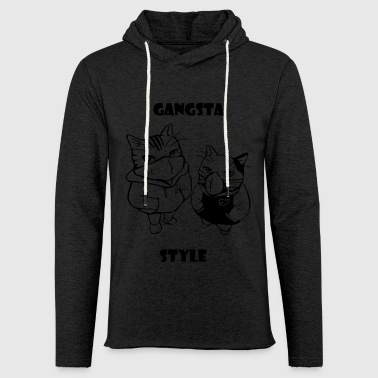 Gangsta cats - Light Unisex Sweatshirt Hoodie