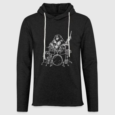 Monkey drummer drummer - Light Unisex Sweatshirt Hoodie