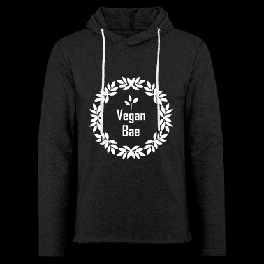 Vegan Bae. Vegan Logo. Eat Healthy. Healthy Life - Light Unisex Sweatshirt Hoodie