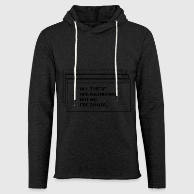 All These open Windows - Leichtes Kapuzensweatshirt Unisex