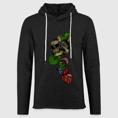 Snake Skull Heart - Light Unisex Sweatshirt Hoodie