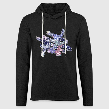 Abstract text 001 - Light Unisex Sweatshirt Hoodie