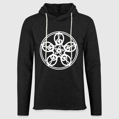CELTIC CLEF MANDALA (white) - Light Unisex Sweatshirt Hoodie