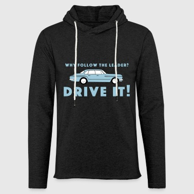 Vintage Plymouth Valiant slogan with car drawing - Light Unisex Sweatshirt Hoodie