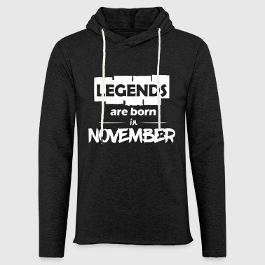 Legends are born in November - Light Unisex Sweatshirt Hoodie
