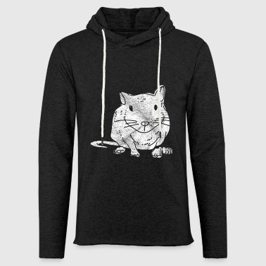 Hamster shirt pet gift rodent - Light Unisex Sweatshirt Hoodie