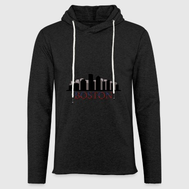 skyline boston - Light Unisex Sweatshirt Hoodie