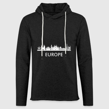 europe horizon - Sweat-shirt à capuche léger unisexe