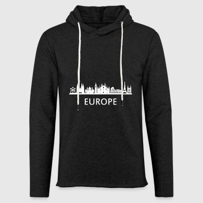 skyline europe - Light Unisex Sweatshirt Hoodie