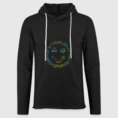 smile for life typo - Light Unisex Sweatshirt Hoodie