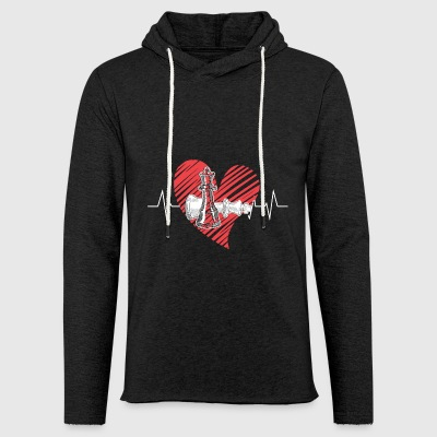 Chess Heartbeat Shirt - Light Unisex Sweatshirt Hoodie