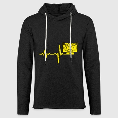 Gift Heartbeat jukebox - Lett unisex hette-sweatshirt