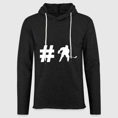 Hockey Hashtag - Hockey - Cadeaux - Sports - Sweat-shirt à capuche léger unisexe