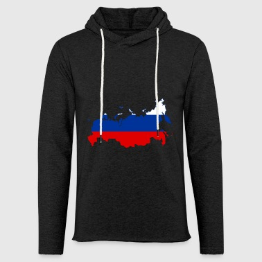 Russia map - Light Unisex Sweatshirt Hoodie