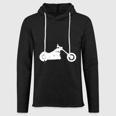 Hobo Softail chopper - Light Unisex Sweatshirt Hoodie