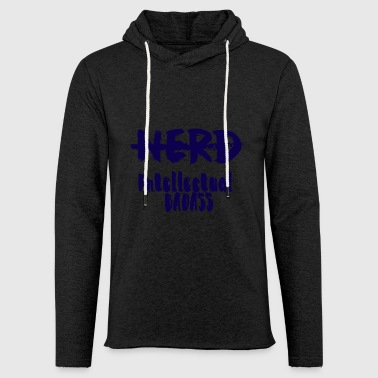 Nerd / Nerds: Nerd - Intellectual Badass - Light Unisex Sweatshirt Hoodie