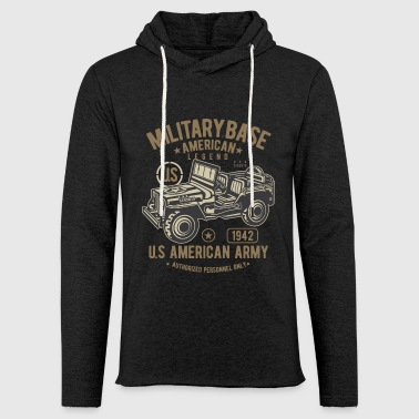 American Army jeep military legend SUV - Light Unisex Sweatshirt Hoodie