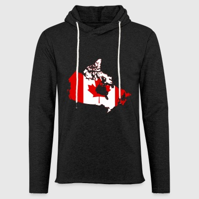 Map of Canada - Light Unisex Sweatshirt Hoodie